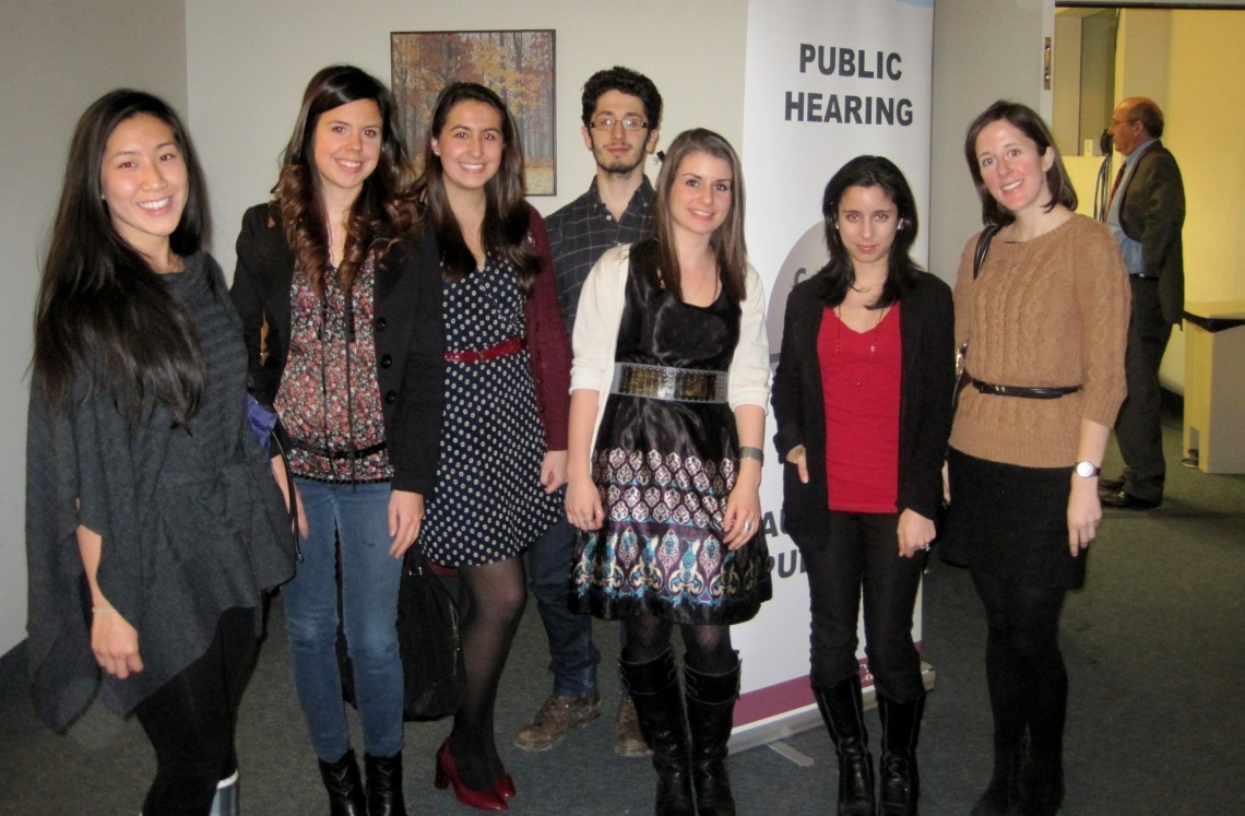 Meeting with Lindsey Pinto, Communications Manager at OpenMedia!Back Row - Geneva Nam, Jessika Ouimet, Alex Esenler, Michael D'Alimonte, Stella Habib, Lindsey Pinto, Emily Hutchinson